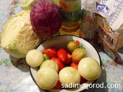 салат с капустой и помидорами 2