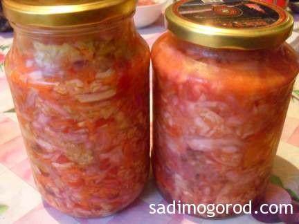 салат с капустой и помидорами 1