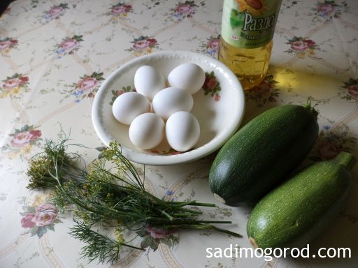 омлет с кабачками на сковороде 2