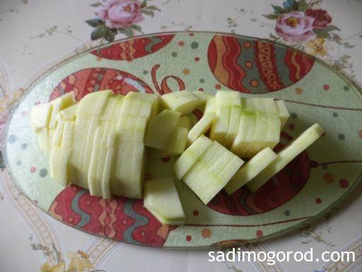 омлет с кабачками на сковороде 3